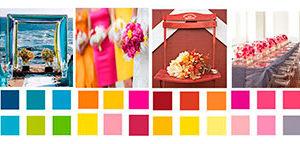 Selección en pareja del color para la boda